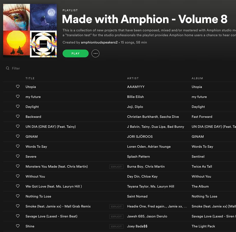 Made with Amphion - Volume 8公開!!!